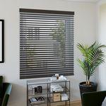 Holzjalousie nach Maß schwarzbraun Wohnzimmer