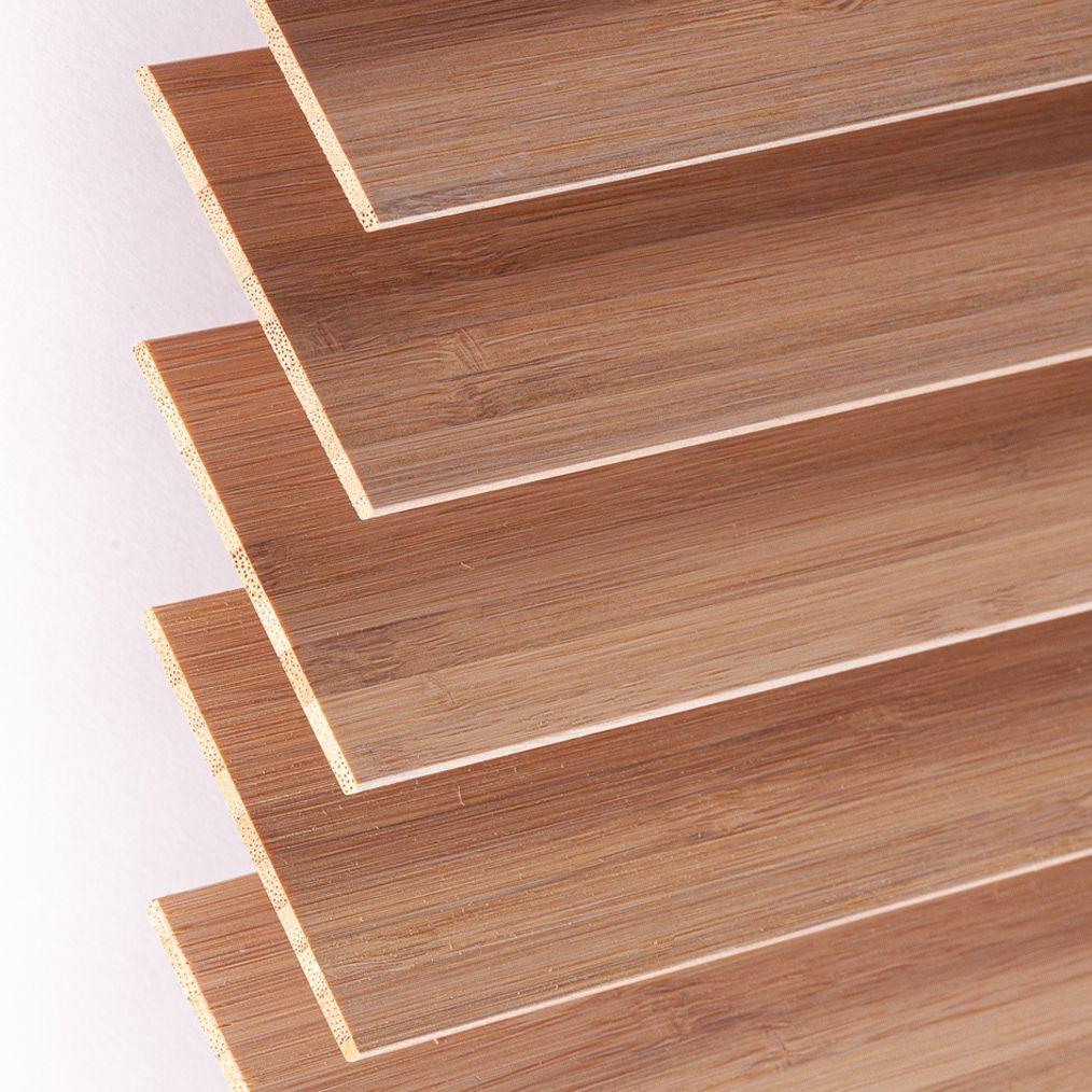 Holzjalousie nach Maß beige Detailaufnahme