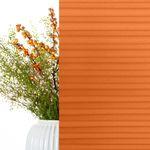 Plissee nach Maß orange Transparenz