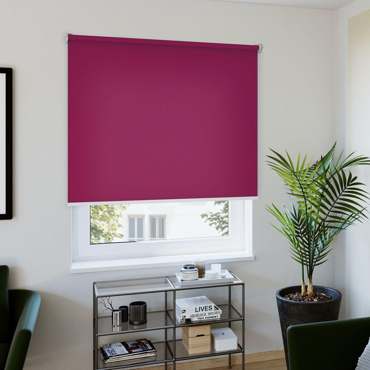 Rollo nach Maß violett Wohnzimmer