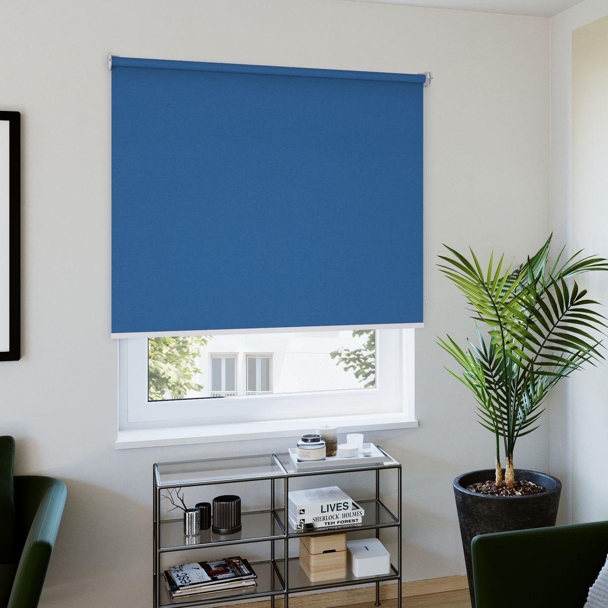 Rollo nach Maß blau Wohnzimmer