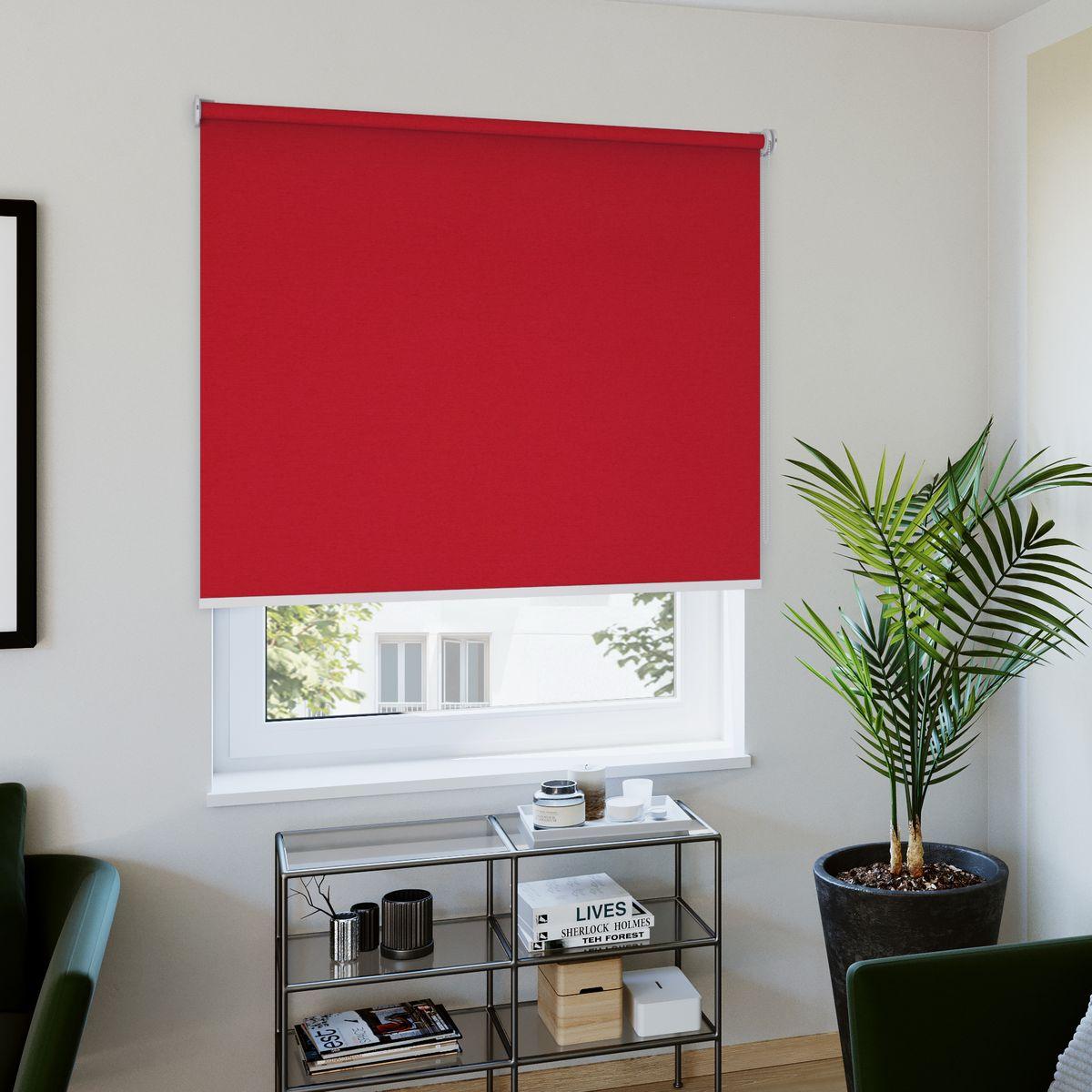 Rollo nach Maß rot Wohnzimmer