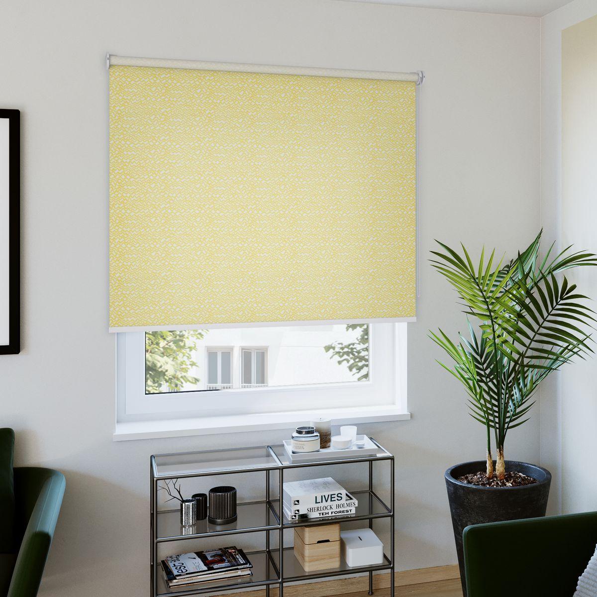 Rollo nach Maß gelb Wohnzimmer